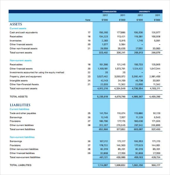 Statement Templates  Income Statement Spreadsheet