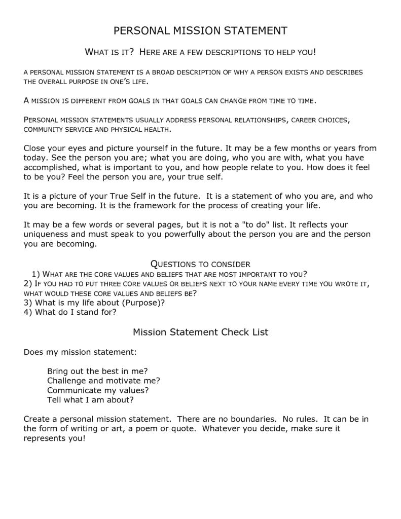 mission statement templates 111