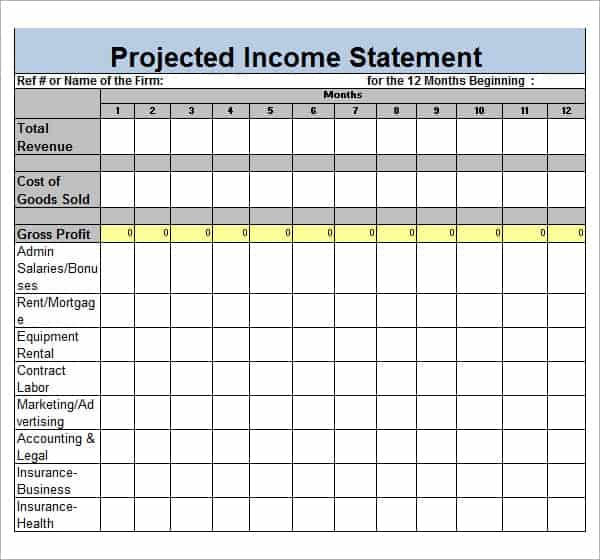 Income statement template image 222