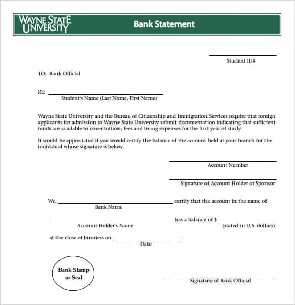 Bank Statement Templates | 9 Free Bank Statement Templates Word Excel Sheet Pdf