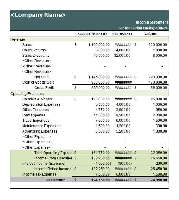 6 free statement of account templates word excel sheet pdf