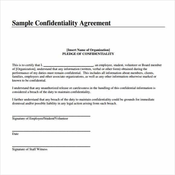 confidentiality statement template image 111