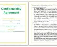 3 Confidentiality Statement Templates