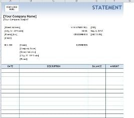 4 legal statement templates word excel sheet pdf